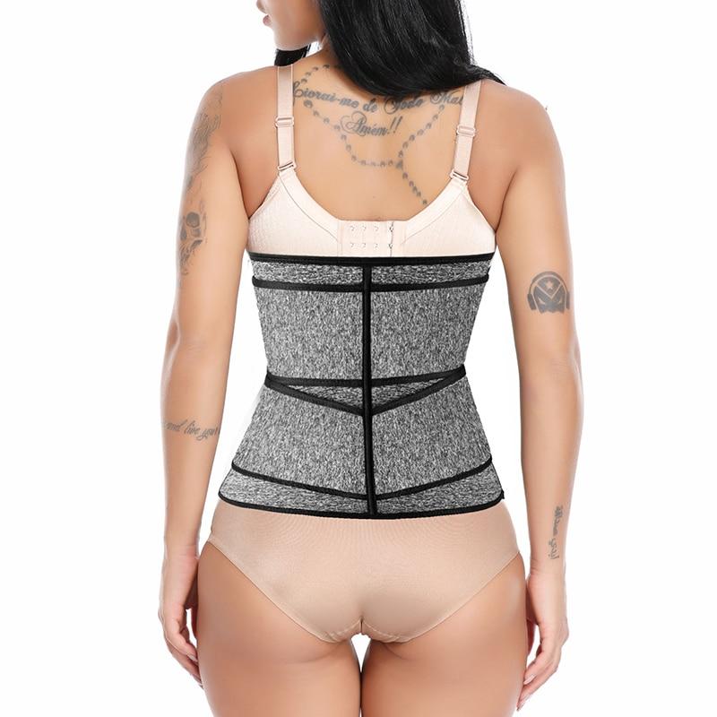 Faja Shapewear Neoprene Sauna Waist Trainer Corset Sweat Belt for Women Weight Loss Compression Trimmer Workout Fitness