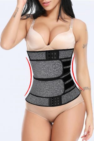 Zipper & Steel Boned Waist Trainer