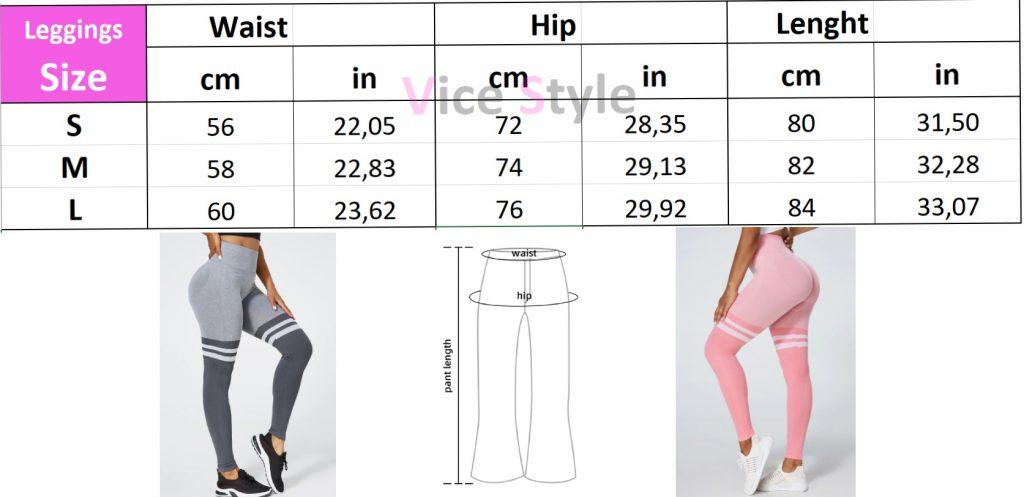 size chart leggings 2